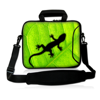 Green Lizard 17 17.3 Inch Neoprene Laptop Carrying Bag Sleeve Case Cover Holder w/ Side Pocket +Shoulder Strap Free shipping