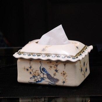 O fornecimento de Mobiliário Doméstico criativo Americano cerâmica caixa de abertura de inauguração presentes na sala de estar mesa de café simples pa