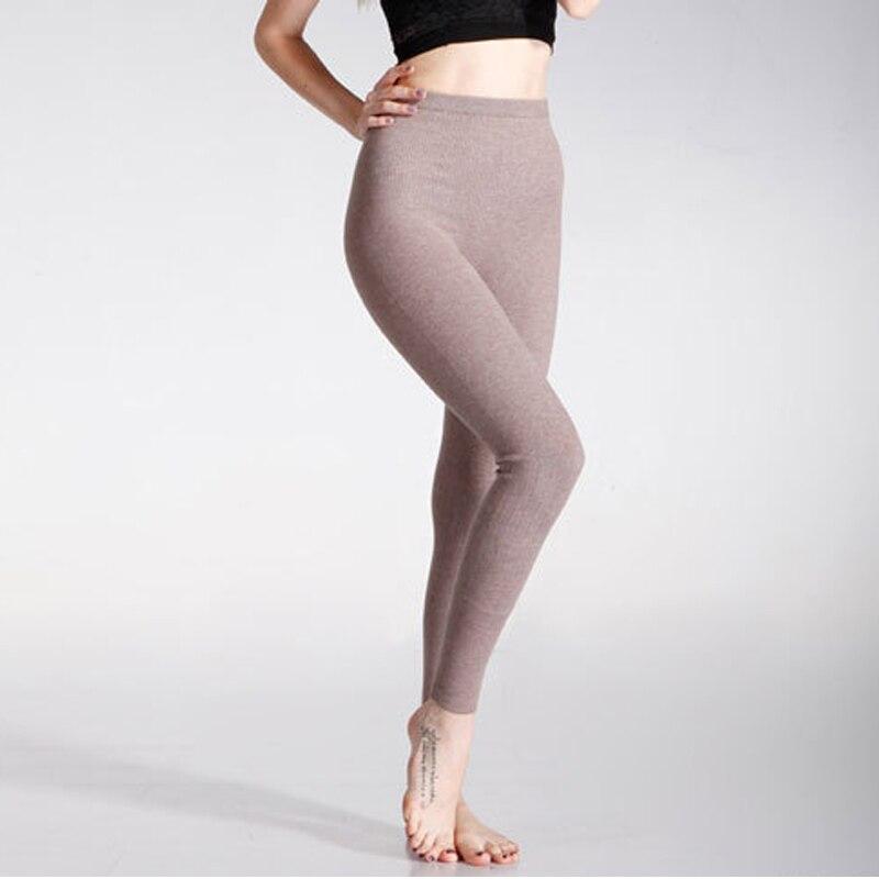 Woolen Leggings Warm 2018 Women Winter Knit Pants Cashmere Knitted Thick Stirrup Pants Ladies Slim Long Trousers Pantalones M-2X