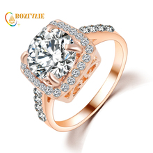 2017 New Arrival Hot Sell Luxury Accessories Of Lady Trendy Jewelry Square Crystal Romantic Wedding Ring