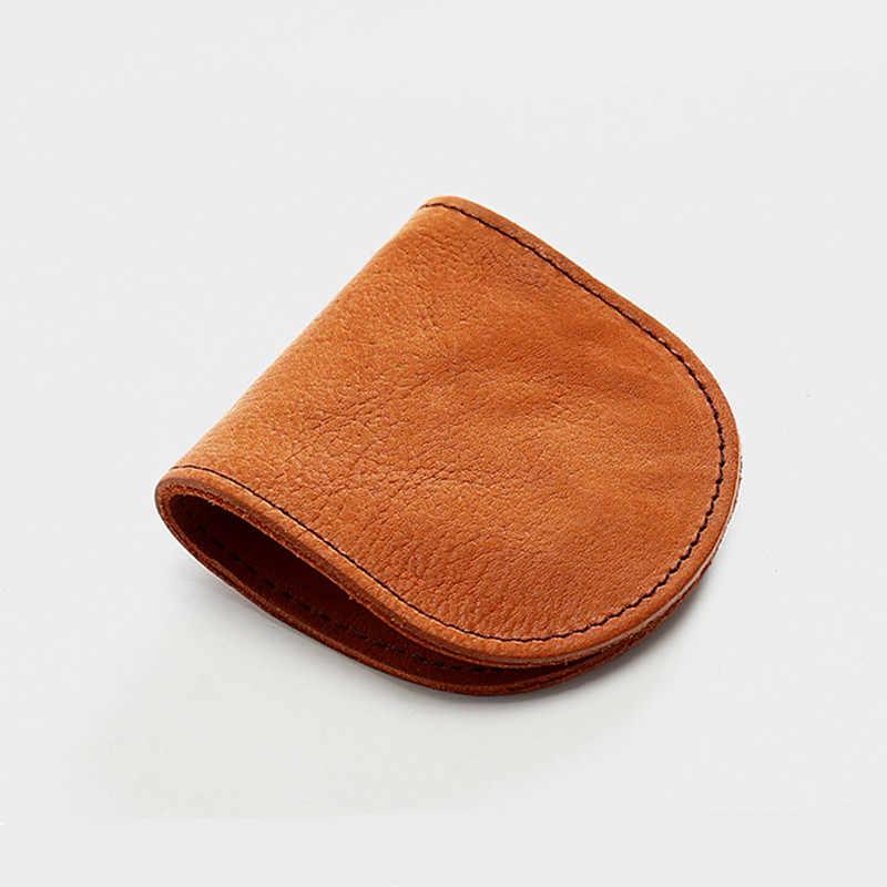 Leacool spilt bolsa de moedas de couro das mulheres dos homens pequenos mini curto carteira sacos de mudança pequena chave titular do cartão de crédito negócio
