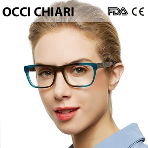 Image 2 - OCCI CHIARI High Quality Acetate Eyewear Prescription Glasses Optical Glasses Clear Eyeglass Woman computer frame W ZELCO