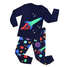 Boys cotton pajamas suit cartoon Christmas kids girls cute home children set