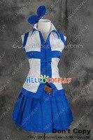 יפני אנימה תלבושת קוספליי זנב פיות לוסי heartfilia לבן כחול dress תלבושות h008