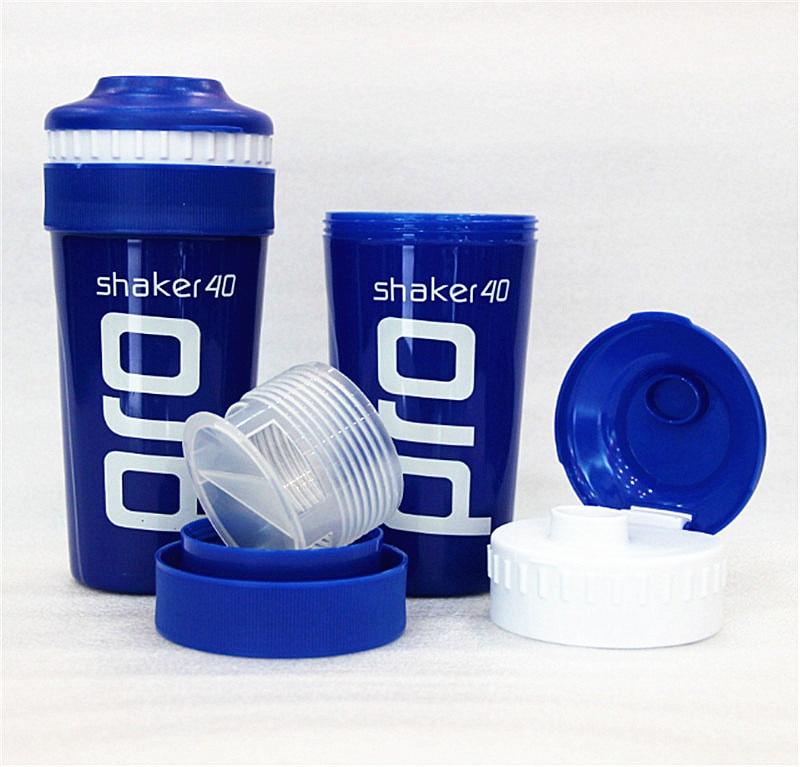 mavi yeni ücretsiz nakliye çalkalayıcı yanlısı spor bardak bardak yaratıcı taşınabilir su ısıtıcısı sızıntı protein tozu şişesi spor su şişesi