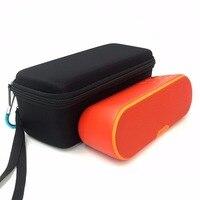 旅行運ぶ保護ハードカバーキャリングケースバッグ余分なスペースソニーのsrs xb2/srs x33 eva収納のための余分なスペースケーブル