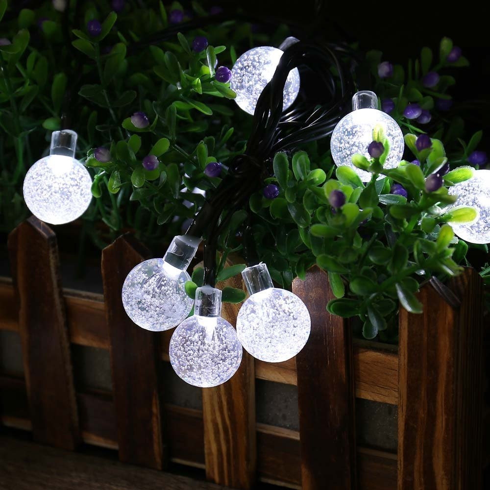 Us 42 83 32 Off Christmas Lights Ball Decoration Solar Ed String 8modes 30led Fairy Led Light For Party Outdoor Garden In