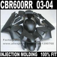 ABS road xe máy bộ phận cơ thể đối với HONDA 2003 2004 CBR600RR F5 bộ phận tạo bộ CBR 600 RR 03 04 CBR600 toàn phẳng đen fairing kits