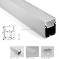 10 X1 M Sets/Lot Shenzhen Manufacturer aluminium led profile and large U channel with curved parts for pendant lamps