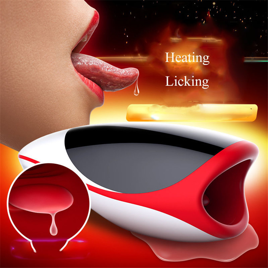 Leten Moaning & Heating Blow Job Masturbation Cup Male Masturbator Oral Sex Toys for Men,Silicone Pussy Licking Sex Products все цены