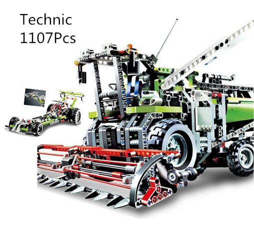 CX 20041 1107Pcs Model building kits Compatible with Lego 8274 The Combine Harvester Set 3D Bricks figure toys for children цена