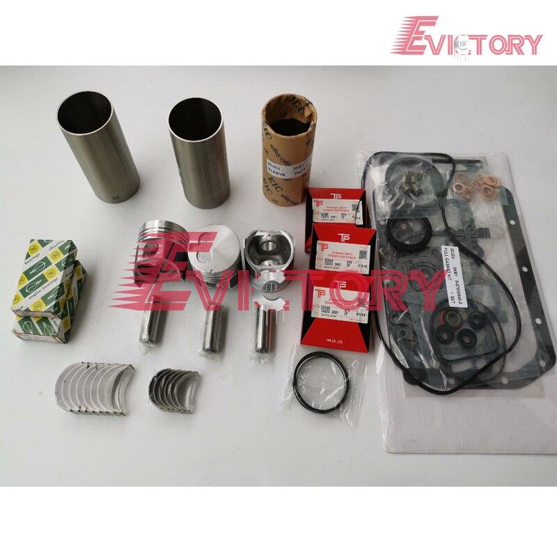Pour Isuzu 3KB1 piston + piston anneau chemise de cylindre 3KB1 plein cylindre joint de culasse vilebrequin palier de bielle