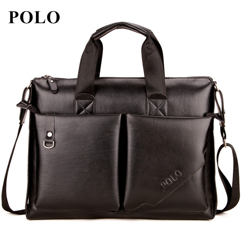 POLO 2017 Men messenger bags fashion leather bag men briefcase designer handbags high quality famous brand business men bag все цены