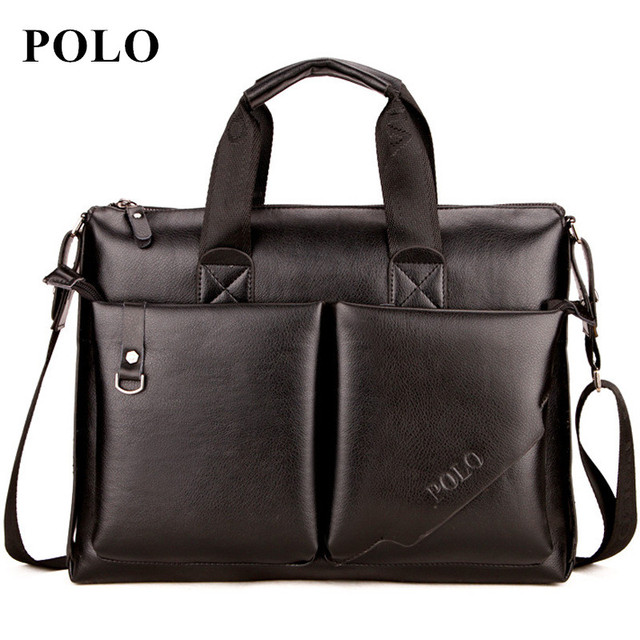 Polo 2017 Men Messenger Bags Fashion Leather Bag Briefcase Designer Handbags High Quality Famous Brand