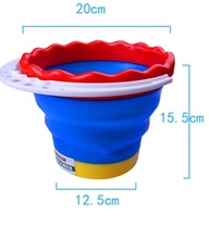 Silicon material wash basin folding bucket portable camping fishing car washing tool kitchen bathroom wash pen barrels free ship