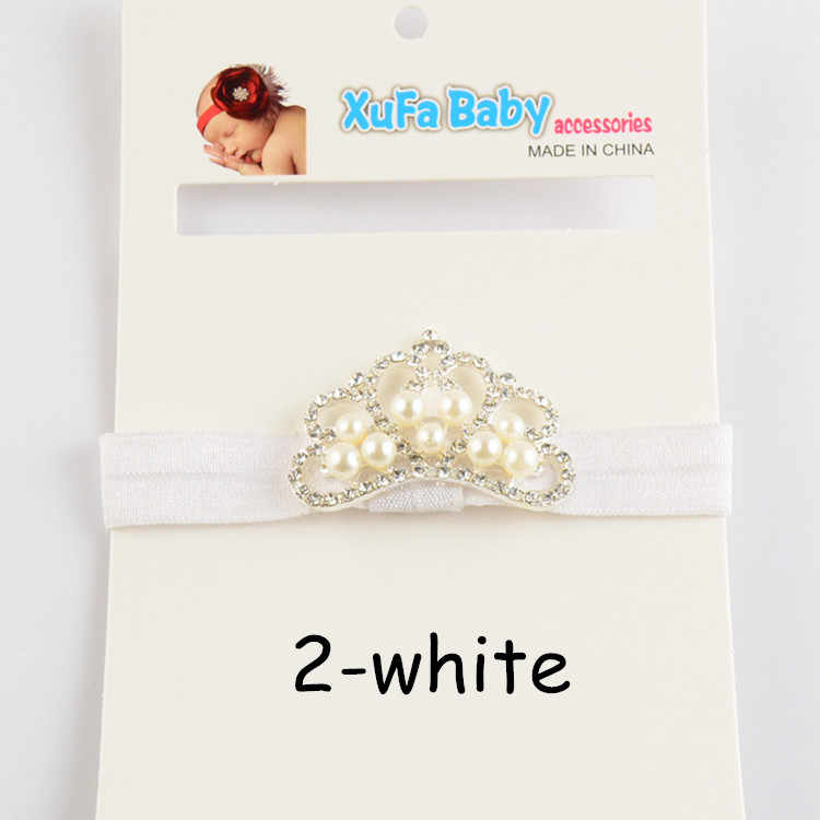 MengNa Boutique Crown Stirnband strass perle stirnband für Mädchen Haar Zubehör kinder Taufe Taufe Stirnband 24pc