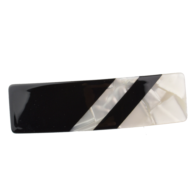 High Quality Women Hair Accessories 2016 New Fashion Black White Patchwork Hair Barrette Office & Daily Hair Clip For Women