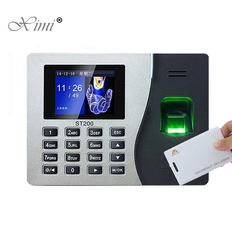 New Arrived ZK Biometric Fingerprint Time Attendance With RFID Card Reader ST200 Time Clock Recorder Employee Recognition Device