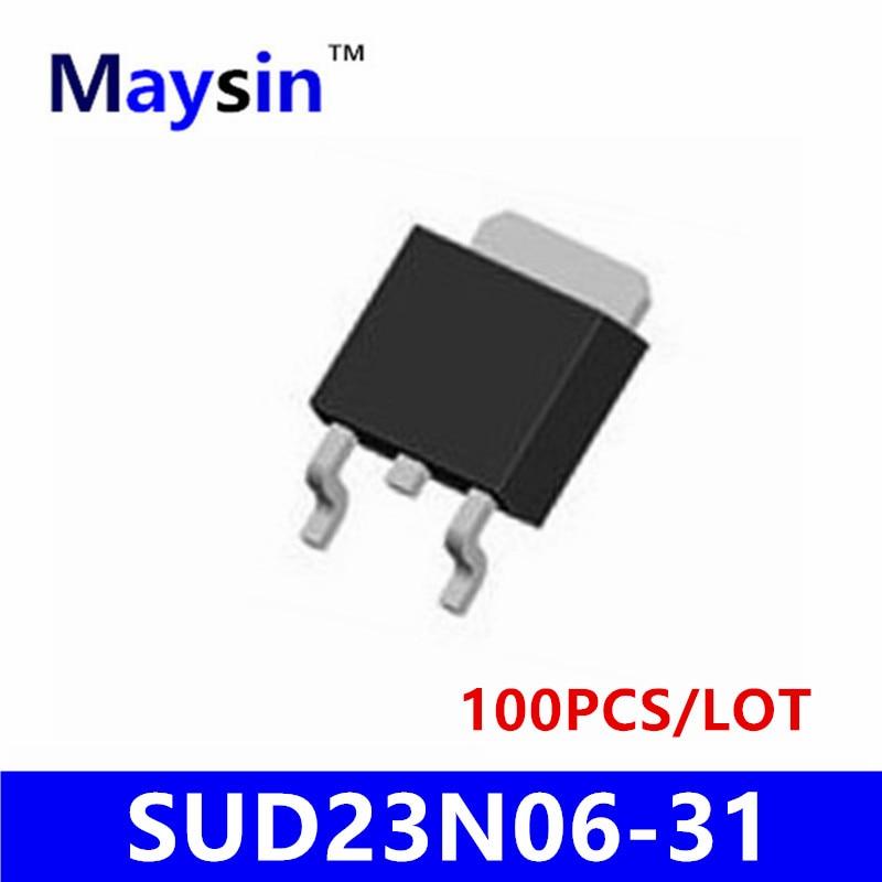 100PCS N-CHANNEL 60V SUD23N06-31 SUD23N06 23N06 TO252 HIGH QUALITY