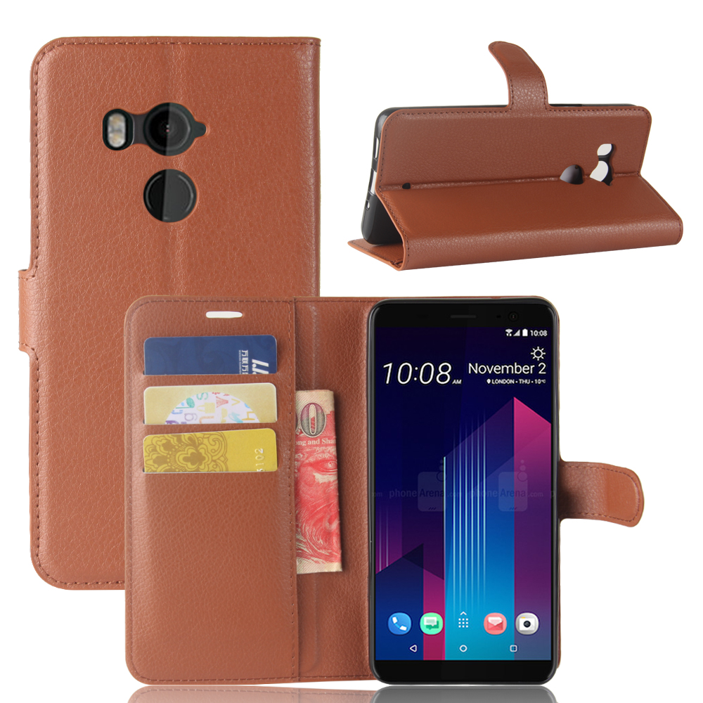 UTOPER Case For HTC U11 Plus Case Flip Wallet ShockProof