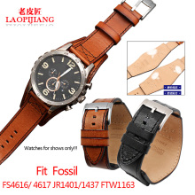 New Arrivals 1:1 Fit fossil FS5088 FS4656 BQ1718 FS4616 4617 JR1401 1437 FTW1163 watch band leather belt 22 24mm with tray strap