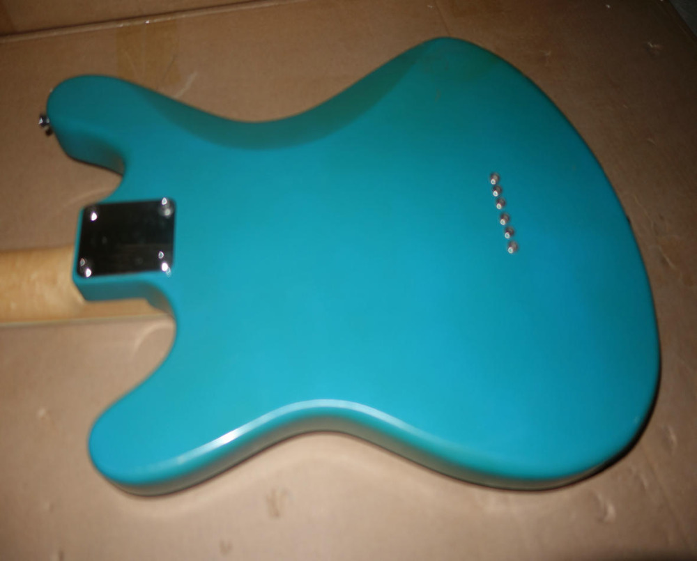 Stock Old guitar Blue Electric Guitars Needs to be repaired
