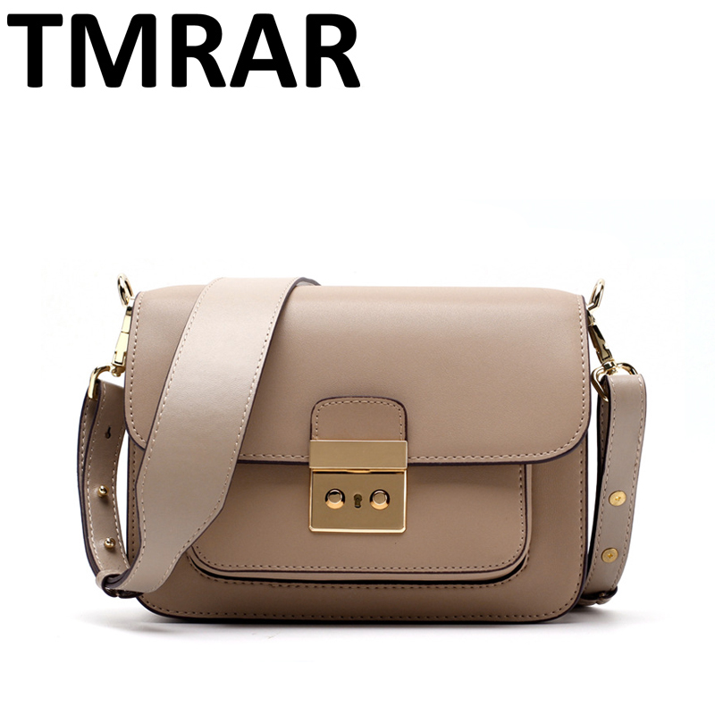 2018 New classic small flap chic simple messenger bags lady split leather handbags women crossbody bags for female qn235