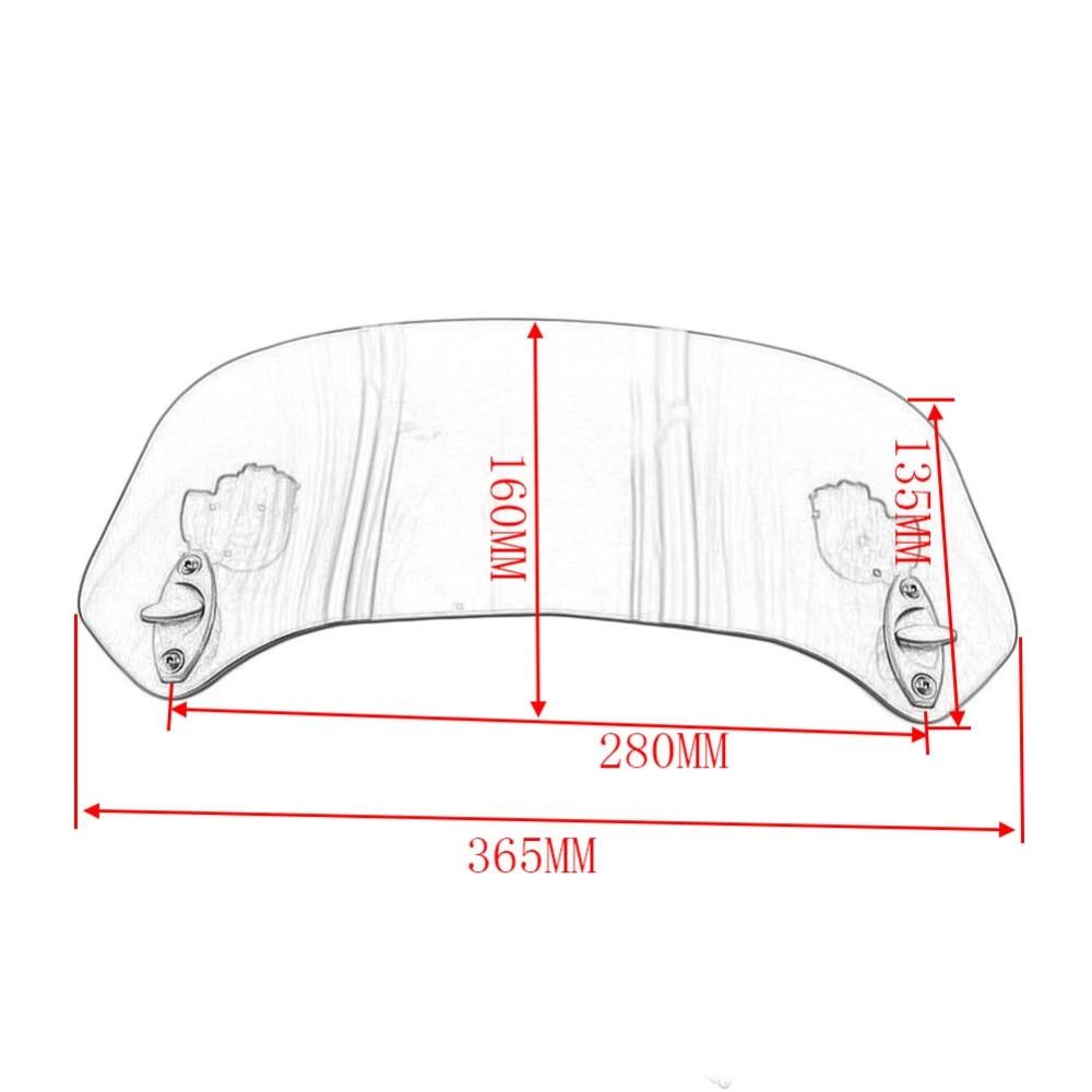 Smoke Universal Adjustable WindScreen Windshield Spoiler For BMW Honda CT70 CT90
