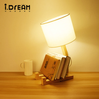 Lamps And Lanterns Creative Lamp Natural Art Personality Solid Wood Coffee Restaurant Fashion Modern Bedroom Nordic