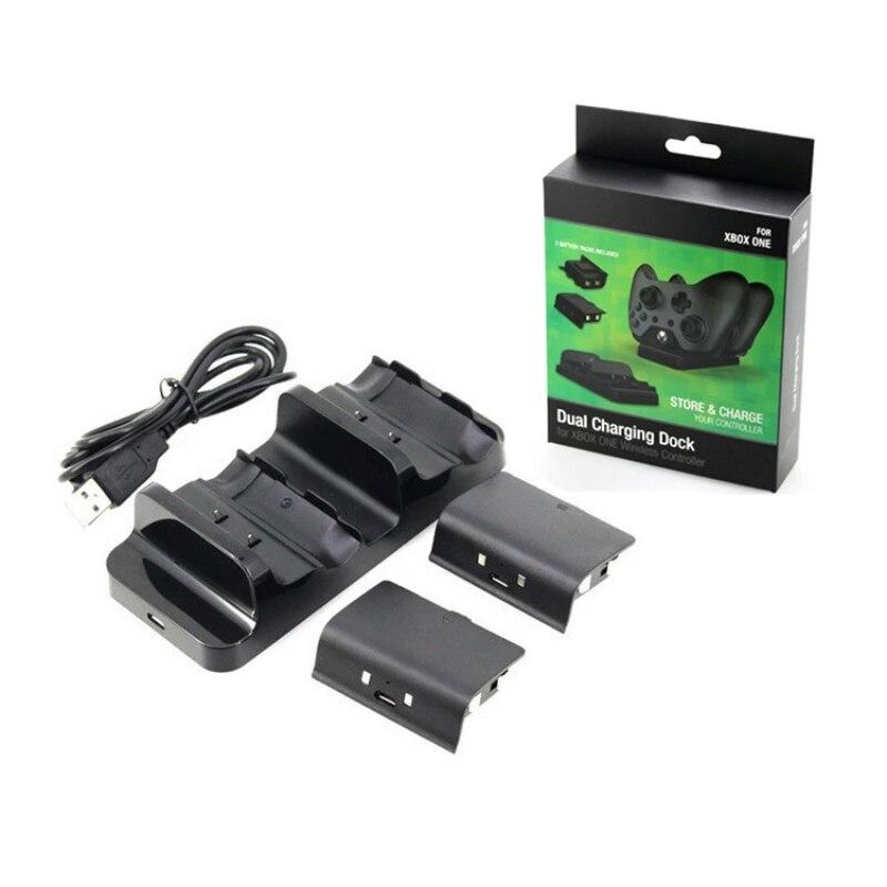 Controlador doca Charger + 2x Baterias Recarregáveis para XBOX UMA Doca de Carregamento Da Bateria Recarregável