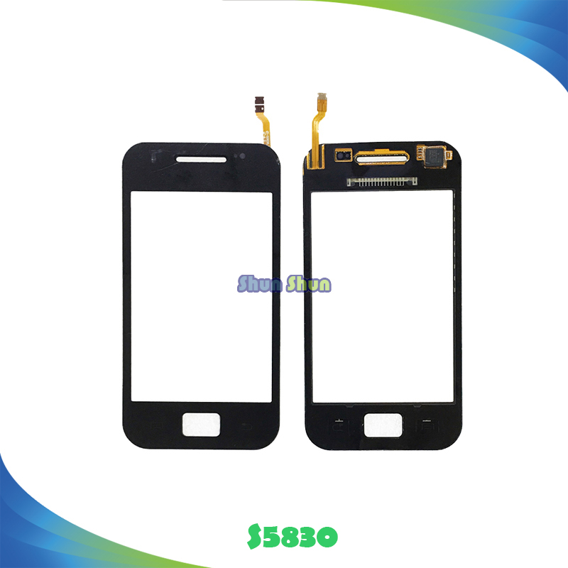 10pcs 3.5 S5830 Touch Panel for Samsung Galaxy Ace S5830 S5830i Touch Screen Digitizer Sensor Front Glass Lens Black White