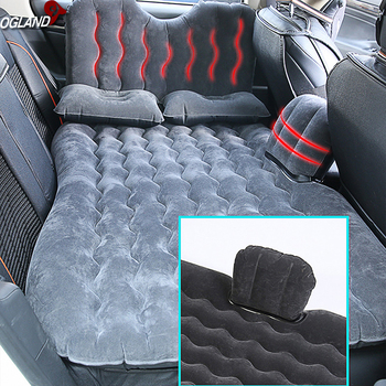 OGLAND Car Air Inflatable Travel Bed Mattress for Universal Auto Back Seat Sofa Pillow Outdoor Multifunction Camping Mat Cushion 1