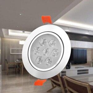 Image 1 - 1x3W 5W 7W 12W 220V 높은 전원 LED 통 Recessed LED 스포트 라이트 램프 알루미늄 전구 거실 침실 조명