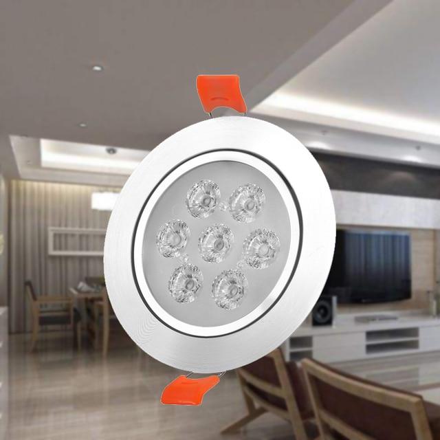 1x3W 5W 7W 12W 220V 높은 전원 LED 통 Recessed LED 스포트 라이트 램프 알루미늄 전구 거실 침실 조명