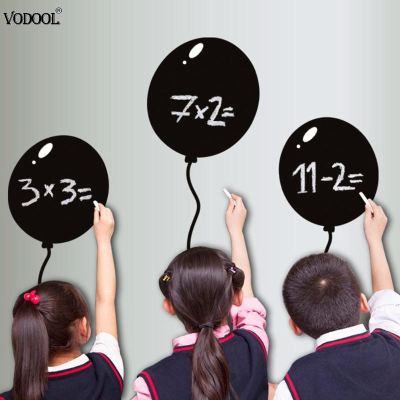 Balloon 60x45cm Removable Blackboard Stickers Wall Decals Home Office Decorative Black Board Chalkboard Sticker Schook Supplies