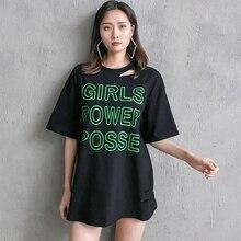 Short Sleeve Shirt Women , Womens Clothing  Korean Harajuku Tshirt Streetwear Crop Top 90s Letter O-Neck T