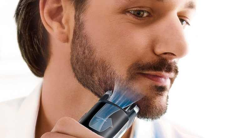 מקצועי ואקום זקן גוזם לגברים שיער trimer שפם עיצוב כלי פנים חשמלי גילוח ראש חותך מכונה 0.5-18mm
