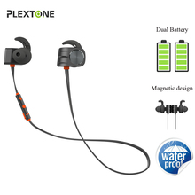 Plextone BX338 Wireless Headsets Bluetooth Earphons IPX5 Waterproof Stereo Headphones with Microphone Earbuds For Phone Sport