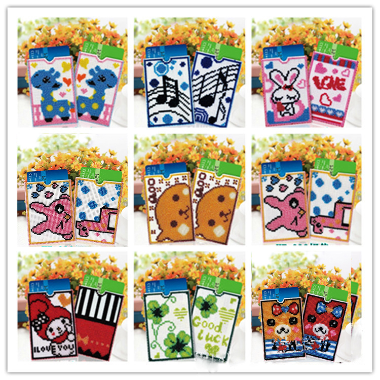 DIY Beads Cross Embroidery Handmade Card Sleeve Cartridge Grid Pearl Embroidered 2019 Cute Girl Gift New Wholesale