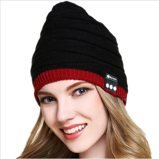 1b926b8b938 Wireless Bluetooth Headcap for Stereo Warm Fashion Music Hat Handfree  Earphone Warm Beanies Winter Outdoor Sports