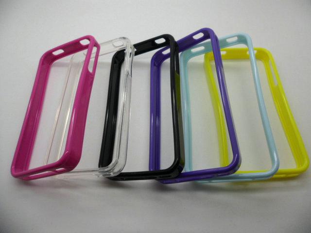 TPU bumper case for Iphone4 4S 500pcs/lot mix color