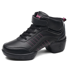 Womens Summer Shoes Breath Jazz Leather Dance Sneakers Modern Practice Fitness Flexible Hip Hop Sports Feature Shoe