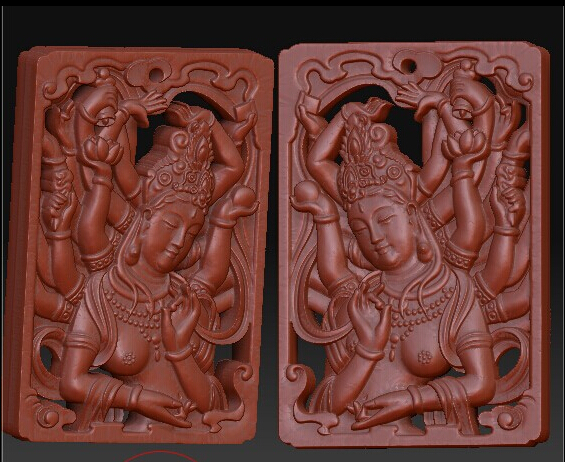 3D model relief for cnc in STL file format Two-sided Avalokitesvara martyrs faith hope and love and their mother sophia 3d model relief figure stl format religion for cnc in stl file format