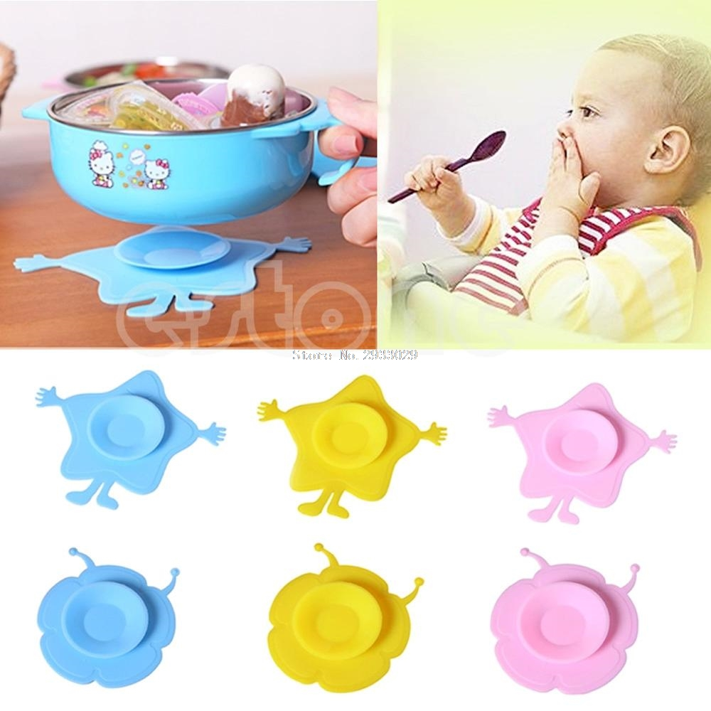 Child Tableware Non slip Bowl Suction Pad font b Baby b font Plate kids Bowl Magic