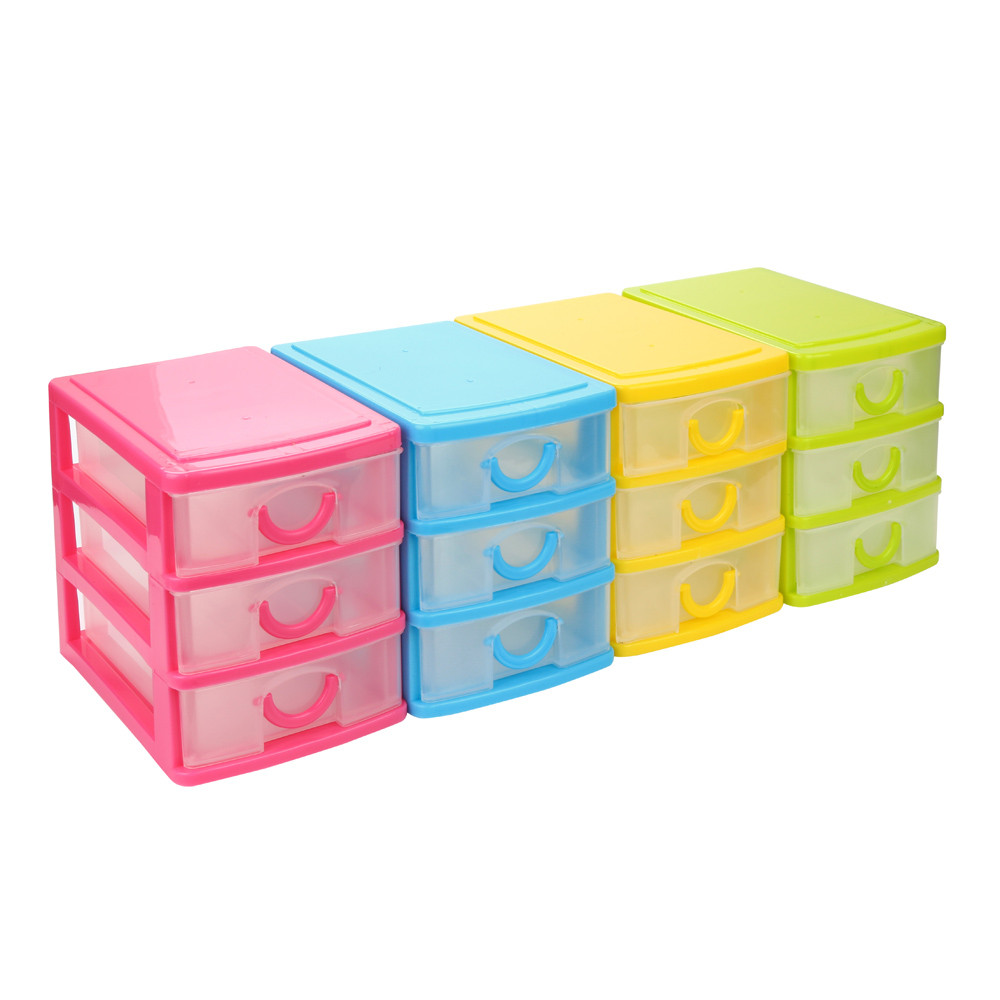 Desk Top Drawers Four Color Durable Plastic Mini Desktop Drawer Sundries Case Small Objects Organization Box For Beads Pills Rings Jewelry Key