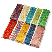 30meters 3mm Gold Wire Chinese Soutach Cord Multi Colors Nylon Rope Snake Belly Cords for DIY Jewelry Making Findings Components