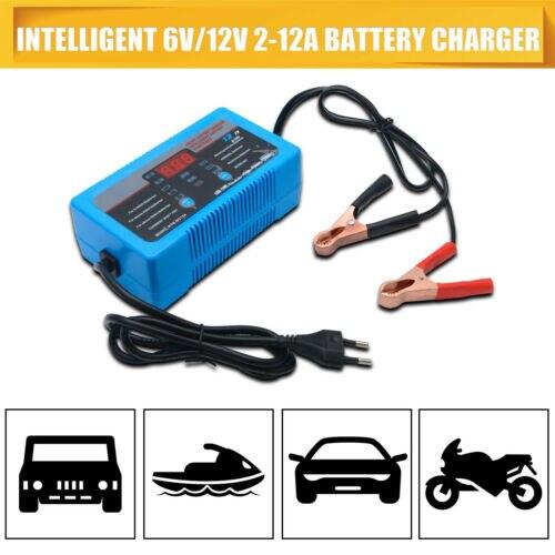 Chargeur de batterie 6 V/12 V Plomb Gel Chargeur De Voiture Moto Moto 12A 8A 2A 4-200AH