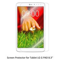 Clear LCD PET Film Anti Scratch Anti Bubble Touch Responsive Screen Protector For Tablet LG G