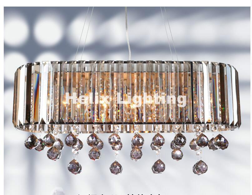 New Luxury Crystal Pendant L70cm K9 Smokey Crystal Chandelier Light Hotel Hall Living Room Dining Room 110-240V Free Shipping free shipping d450mm luxury k9 crystal chandelier lamp k9 golden crystal hotel hall light led crystal pendant 100