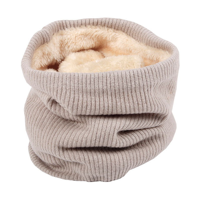 Unisex Winter Infinity Scarf With Faux Fur Knit Neck Warmer Chunky Soft Thick Circle Loop Scarves For Woman Man AA10076